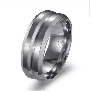Stainless steel wedding band 9 13